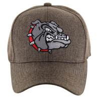 VM558 Bulldog Baseball Velcro Cap (Solid Brown)