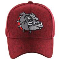 VM558 Bulldog Baseball Velcro Cap (Solid Red)