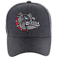 VM558 Bulldog Baseball Velcro Cap (Solid Charcoal)