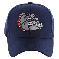 VM558 Bulldog Baseball Velcro Cap (Solid Navy)