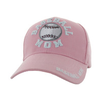 VM452 Basekball Mom Velcro Cap (Solid Light Pink)