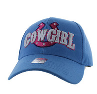 VM002 Cowgirl Velcro Cap (Solid Sky Blue)