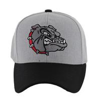 VM558 Bulldog Baseball Velcro Cap (Heather Grey & Black)