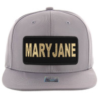 SM250 Mary Jane Snapback Cap (Solid Grey) - Gold Metal