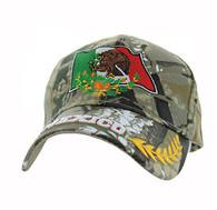 VM225 Mexico Flag Eagle Velcro Cap (Solid Hunting Camo)