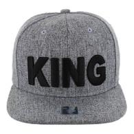 SM9012 King Snapback Cap (Heather Grey & Heather Grey)