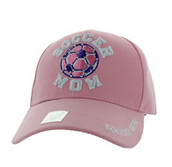 VM452 Soccer Mom Velcro Cap (Solid Light Pink)
