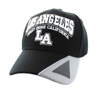 VM417 Los Angeles Velcro Cap (Black & Light Grey)