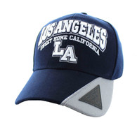 VM417 Los Angeles Velcro Cap (Navy & Light Grey)