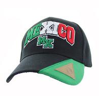 VM417 Mexico Velcro Cap (Black & Kelly Green)