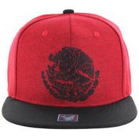 SM642 Mexico Snapback Cap (Red & Black)