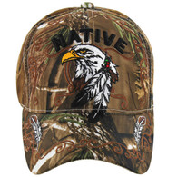 VM219 Native Pride Eagle Velcro Cap (Solid Hunting Camo)