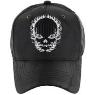 VM229 Skull Velcro Cap (Solid Black Camo)
