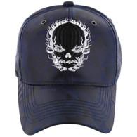 VM229 Skull Velcro Cap (Solid Navy Camo)