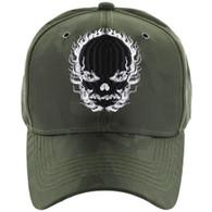VM229 Skull Velcro Cap (Solid Olive Camo)