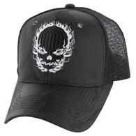 VM229 Skull Mesh Trucker Cap (Black Camo & Black)