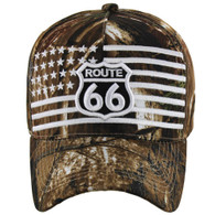 VM186 Route 66 Road Velcro Cap (Solid Hunting Camo)