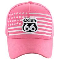 VM186 Route 66 Road Velcro Cap (Solid Light Pink)
