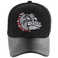 VM200 Bulldog Baseball Velcro Cap (Black & Black PU)