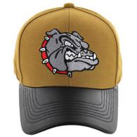 VM200 Bulldog Baseball Velcro Cap (Mustard & Black PU)