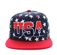 SM369 USA Star Snapback (Navy & Red)