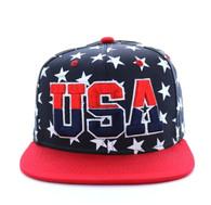 SM369 USA Star Snapback (Navy & Red)