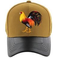 VM200 Cock Baseball Velcro Cap (Mustard & Black PU)
