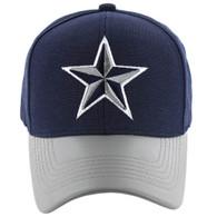 VM200 Big Star Velcro Cap (Navy & Grey PU) - Stitch