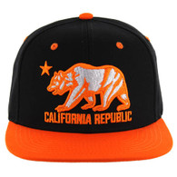 SM025 Cali Bear Snapback (Black & Orange)