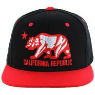 SM025 Cali Bear Snapback (Black & Red)