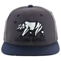 SM025 Cali Bear Snapback (Charcoal & Navy)