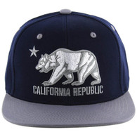 SM025 Cali Bear Snapback (Navy & Light Grey)