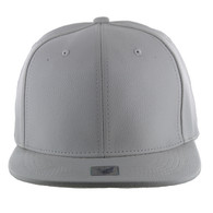 SP1001 Blank PU Snapback Hat (Solid White)