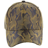 VP9062 Blank Baseball Velcro Cap (Khaki & Khaki)