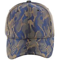 VP9062 Blank Baseball Velcro Cap (Khaki & Blue)