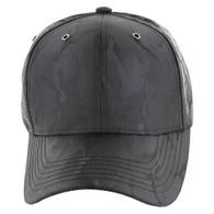 VP9062 Blank Baseball Velcro Cap (Black & Black)