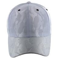 VP9062 Blank Baseball Velcro Cap (White & White)
