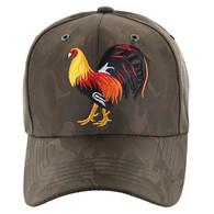 VM274 Cock Baseball Velcro Cap (Brown & Brown)