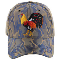 VM274 Cock Baseball Velcro Cap (Khaki & Blue)