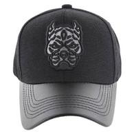 VM200 Pitbull Baseball Velcro Hat (Black & Black PU)