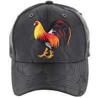 VM274 Cock Baseball Velcro Cap (Black & Black)