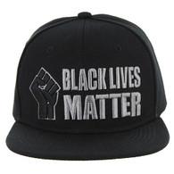 SM051 Black Lives Matter Snapback Cap (Solid Black )