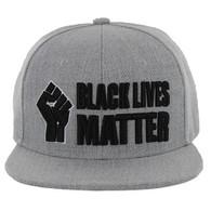 SM051 Black Lives Matter Snapback Cap (Solid Heather Grey )