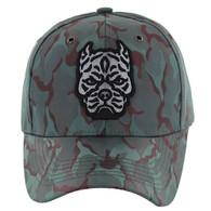 VM569 Pitbull Baseball Velcro Hat (Green & Burgundy)