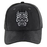 VM569 Pitbull Baseball Velcro Hat (Black & Black)