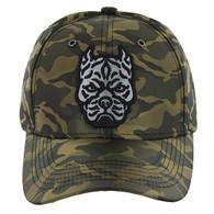 VM569 Pitbull Baseball Velcro Hat (Olive & Olive)