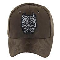 VM569 Pitbull Baseball Velcro Hat (Brown & Brown)