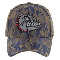 VM558 Bulldog Baseball Velcro Cap (Khaki & Blue)