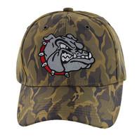 VM558 Bulldog Baseball Velcro Cap (Khaki & Khaki)