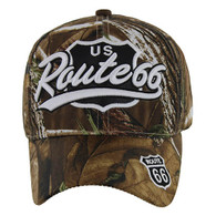 VM041 Route 66 Road Velcro Cap (Solid Hunting Camo)
